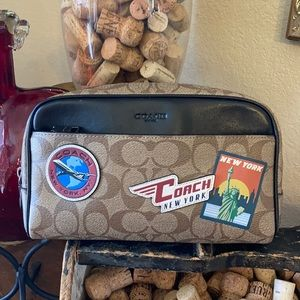 Coach toiletry travel bag